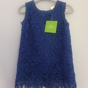 Kate Spade blue cobalt flower lace dress girls 18M